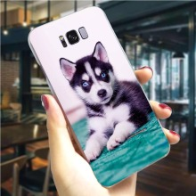 Husky Cute Puppy Dog Phone Case For Samsung S7 Edge Cover Note 8 9 M10/M20/M30 Galaxy S6/S7 Edge S8/S9/S10 Plus S10e купить недорого в Москве