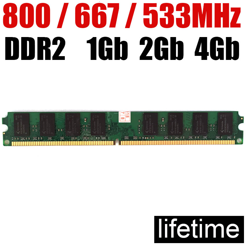 RAM Memory <font><b>DDR2</b></font> 4Gb 2Gb 1Gb 8Gb DDR <font><b>2</b></font> 4 <font><b>Gb</b></font> / For PC RAM memoria <font><b>ddr2</b></font> 800 8G 4G 2G 1G <font><b>667</b></font> 533 800MHZ ( For intel & for amd ) image
