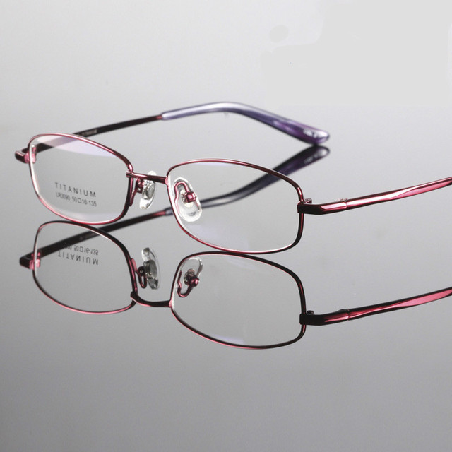 2016 high quality brand women style Titanium glasses myopia frame optics eyeglasses titanium frame radiation-resistant