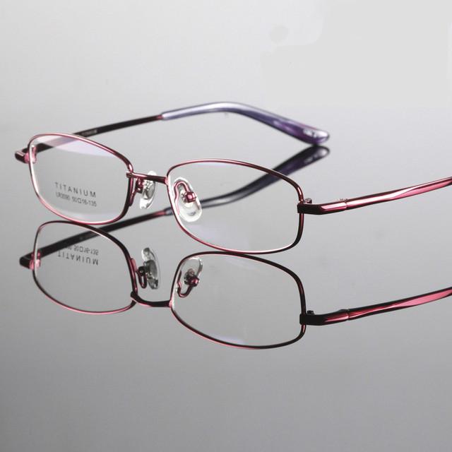 2016 marca de alta qualidade mulheres estilo titanium miopia óculos óptica quadro óculos titanium quadro radiação-resistente