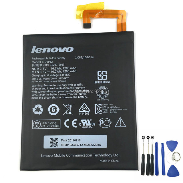 New Original 4290mAh L13D1P32 Battery For Lenovo Lepad A8-50 A5500 Tablet PC Laptop Battery  Free Shipping + Tracking Number
