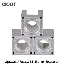 3pcs/lot Carhartts Nema 23 Stepper Motor Accessories Mounts Bracket Support Shelf Nema23 Stepping Mounting For Free Shipping