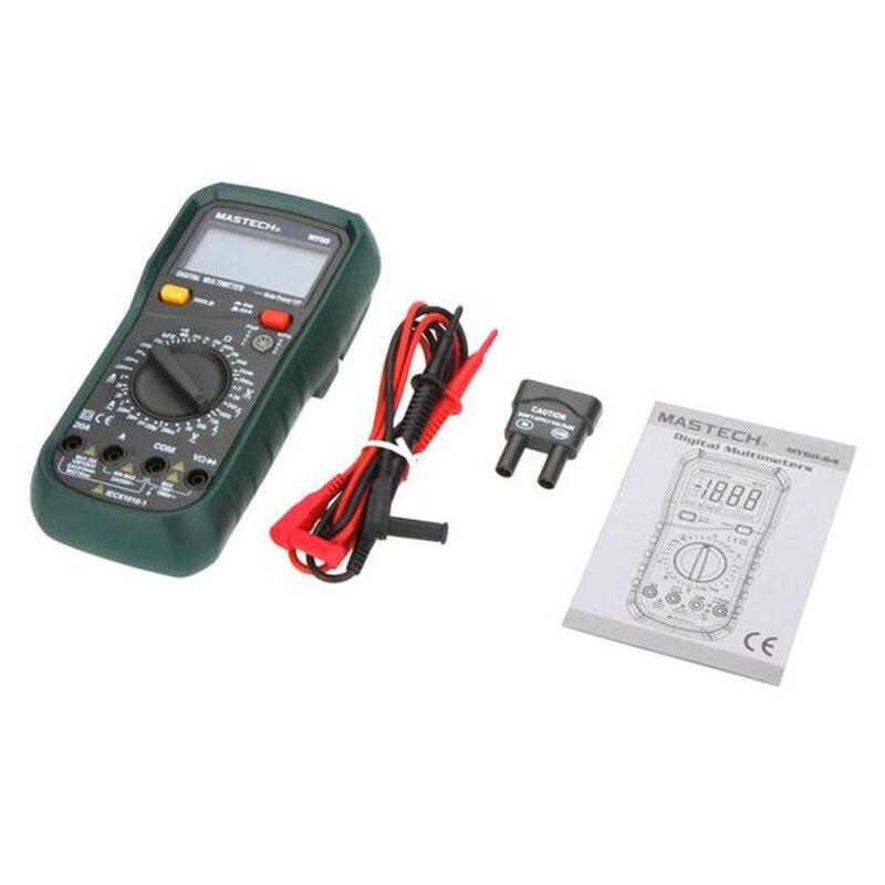 MASTECH MY60 New Digital Multimeter DMM AC/DC Voltmeter Ammeter Ohmmeter Tester w/hFE Test Multimetro Ammeter Multitester  цены