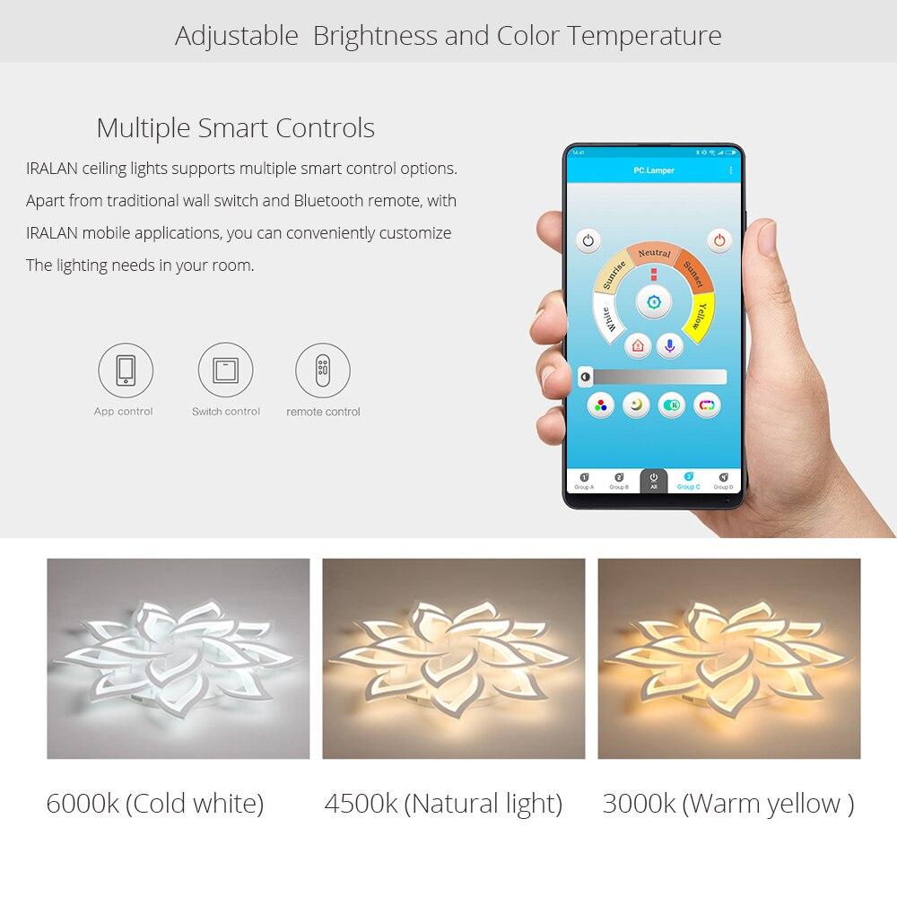 Image 4 - New led Chandelier For Living Room Bedroom Home chandelier by sala Modern Led Ceiling Chandelier Lamp Lighting chandelier-in Chandeliers from Lights & Lighting