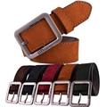 Muchachos de la manera Mens Ocasional de La Pretina de Cuero de Metal Pin Hebilla de Cinturón de la Pretina de Cuero de Gamuza Masculina Cinturones de Diseñador Hombres de Alta Calidad