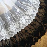 Envío Gratis exquisita decoración de encaje accesorios de ropa diy 23 cm de ancho, 4 yardas/lote de tela de encaje negro
