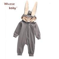 Одежда для новорожденных для маленьких девочек милый зайчик одежда для мальчика зима Комбинезоны Обувь для мальчиков Комбинезон для мален...