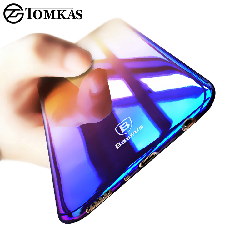 TOMKAS Case For Samsung Galaxy S8 / S8 Plus Luxury Gradient Color Hard PC Glaze Case Cover For Samsung Galaxy S8 Plus Case