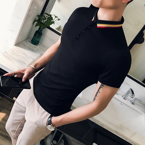 Image 4 - Fashion 2020 Summer Men Polo Shirt High Quality Slim Fit Polo Shirt Men Short Sleeve Casual All Match Polo Homme Streetwear 3XL