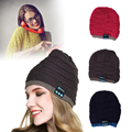 New Fashion Bluetooth Warm Hats Soft Hat Wireless Smart Cap Knitted Bluetooth Headset With screen Headphone Speaker Mic