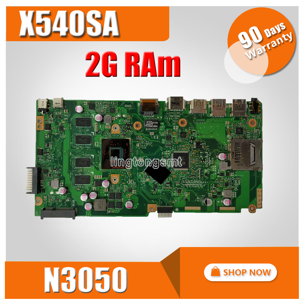 X540SA Laptop motherboard for ASUS VivoBook X540SA X540S X540 F540S Test original mainboard 2GB-RAM  N3050 CPUX540SA Laptop motherboard for ASUS VivoBook X540SA X540S X540 F540S Test original mainboard 2GB-RAM  N3050 CPU