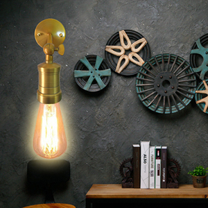 Image 4 - Nordic Creative Adjustable E27 Wall Light Retro Iron Gold Bronze Aisle Wall Lamp For Restaurant Bar Cafe Bedroom Apartment Hotel