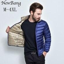 NewBang Brand Mens Down Jacket Puffer Ultra Light Down Jacket Men Autumn Winter Double Side Feather Reversible Parka