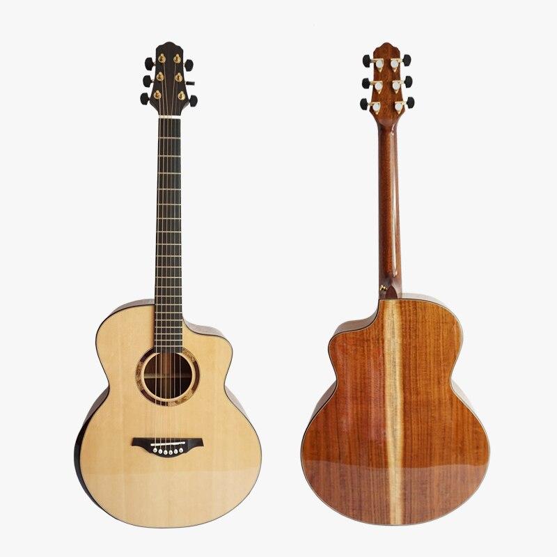 Aiersi Brand All Solid 40 Inch Mini Jumbo Acoustic Guitar Koa Back&Side Model SG03SK taylor gs mini e koa gs mini layered koa koa top es b