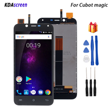 цена на For Cubot Magic LCD Display Touch Screen Digitizer Replacement For Cubot Magic Display Screen LCD Display Phone Parts Free Tools