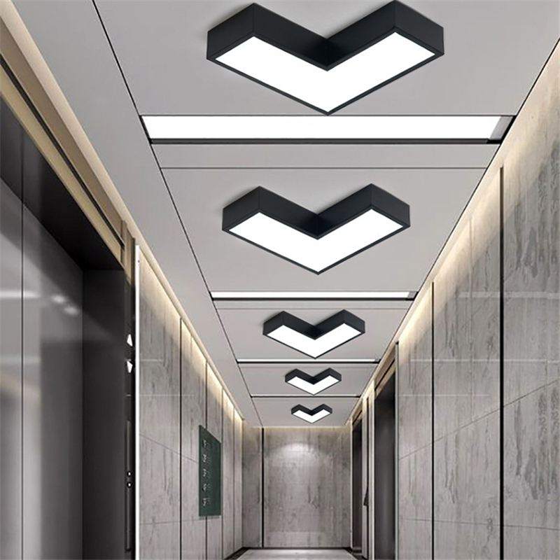 Modern minimalism colorful Ceiling Light creative arrow graphic hallway mall LED energy- ...