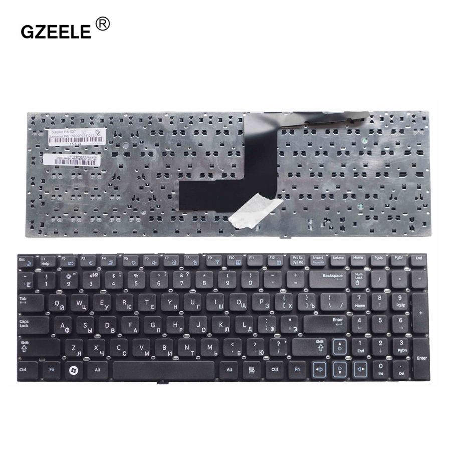 GZEELE clavier russe Pour Samsung RC530 RV509 NP-RV511 RV513 RV515 RV518 RV520 NP-RV520 RC520 RC512 RU Clavier d'ordinateur portable noir