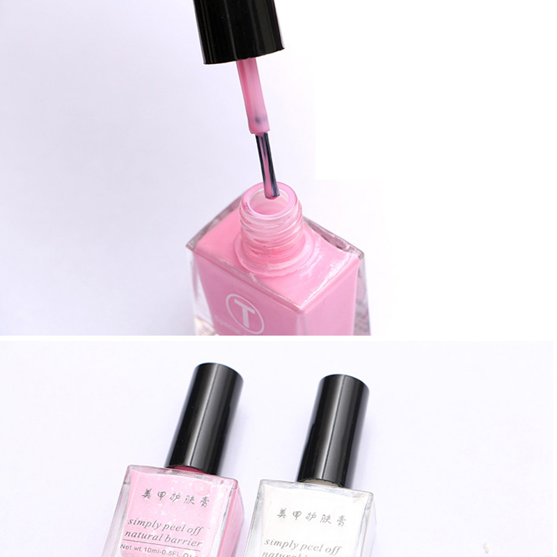New Nail Art Gel Finger Skin Protected Glue Pink White Peel Off Liquid Tape Cream Nail Art Polish Easy Clean DIY Manicure Gift