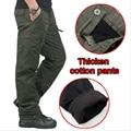 Invierno de la Capa Doble Pantalones Cargo de Los Hombres Gruesos Calientes Pantalones Holgados Pantalones de Algodón Para Hombres de Camuflaje Militar Táctico