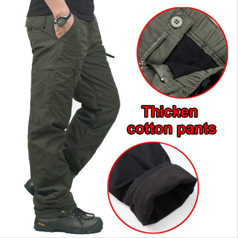 Winter Double Layer Men s Cargo Pants Warm Thick Baggy Pants Cotton Trousers  For Men Male Military Camouflage Tactical-in Casual Pants from Men s  Clothing   ... e1b627753bcd