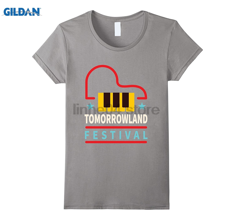 GILDAN Tomorrowland Festival Electronic Boom Belgium DJ Europe Tee Womens T-shirt