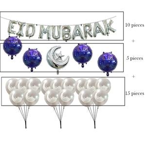 Image 5 - Ballons EID MUBARAK, guirlande décorative pour ramadan kareem happy eid moubarak, ballons en latex à air et hélium