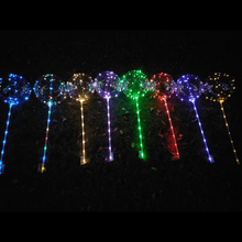 20pcs Luminous Led Balloon LED Light Wedding Decor Happy Birthday Party Balloons with Stick & string Colorful