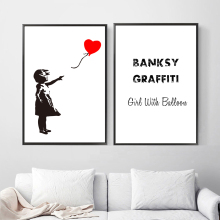 Girl With Balloon Banksy Graffiti Wall Art Canvas Painting Nordic Posters And Prints Pictures For Living Room Home Decor