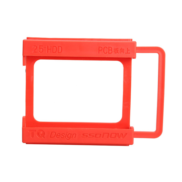 Red 2.5 To 3.5 Inches SSD Notebook HDD Hard Disk Mounting Adapter Bracket Dock Holder For  2.5inch HDD SDD