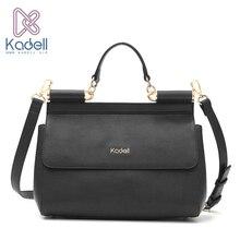 Kadell Vintage Hohe Qualität Frauen Messenger Bags Handtasche Arzttasche Und Marke Schulter Frauen Leder Handtaschen Damen Tote