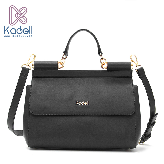 Kadell Vintage High Quality Women Messenger Bags Handbag Doctor Bag Fashion Brand Shoulder Leather Handbags