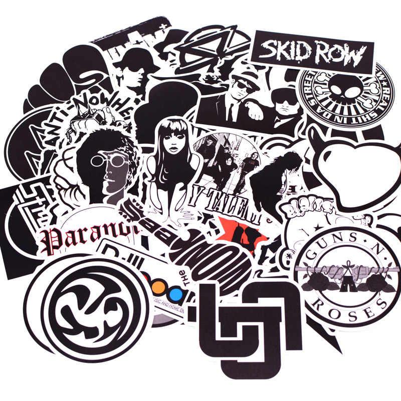 50 шт./упак. Черный Белый Панк-рок граффити наклейка s детская игрушка наклейка для багажа ноутбук скейтборд мото автомобиль водостойкая наклейка