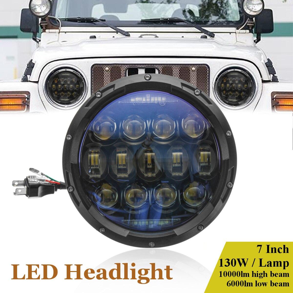 7 Inch IP69 Round 26-LED 150W Headlight Lamp Hi/Low Beam DRL for JEEP JK TJ LJ for Wrangler 1997-2015