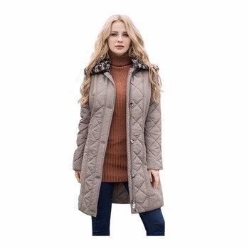 MS Vassa женские пальто стеганые осень-зима Для женщин Парки Большие размеры 7XL съемный искусственный мех воротник с подкладкой верхняя одежда ...