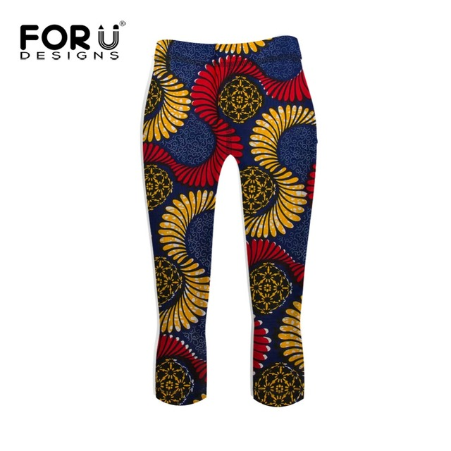 e8e7ffe565 FORUDESIGNS Fashion African Prints Leggings Workout Women Skinny Elastic  Pants Legging Ladies Workout Clothes Leggins for