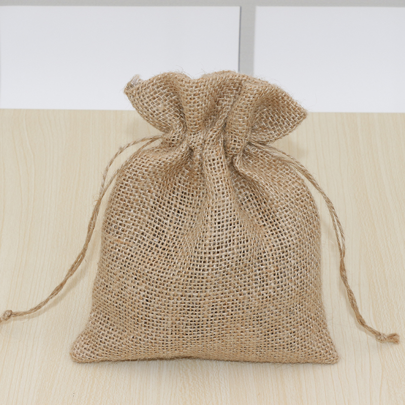 Natural Jute Bag Drawstring Gift Bag Incense Storage Linen Bag Cosmetic Jewel Accessories Packaging Bag