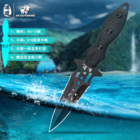 HX OUTDOORS 440C Double edged Diving knives Camping Rescue Knife Hunting Pocket Straight knives nylon Sheath Dropshipping