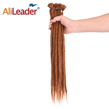 "AliLeader 20 ""Kanekalon Handmade Dreadlocks Extensions Synthetic Crochet Dreads Braiding Hair For Men And Women Black Blonde(China)"