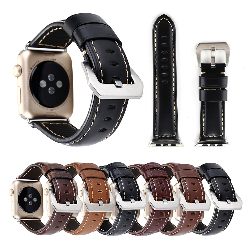 38-42mm For Apple Watch Series 4 Genuine Leather Big Buckle Watch Band For Apple Watch Series 1 2 3 4 Watchbands iWatch Strap38-42mm For Apple Watch Series 4 Genuine Leather Big Buckle Watch Band For Apple Watch Series 1 2 3 4 Watchbands iWatch Strap