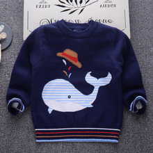 Fashion Casual Children Sweater Cartoon Pattern Knit Pullovers for Girl 2-7Y Winter 2018 Warm Thick Boys Sweater Casual pullover striped sweater for boys 2018 brand design fall girl pullover baby boy casual sweater infant knit sweater children clothes