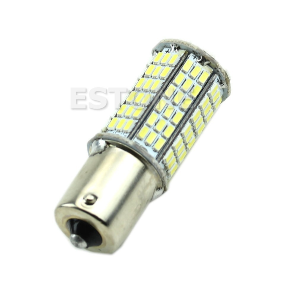 2016 newest White Canbus 1156 BA15S P21W 144-LED ERROR FREE Car Tail Backup Light Bulb 12V ruiandsion 2x75w 900lm 15smd xbd chips red error free 1156 ba15s p21w led backup revers light canbus 12 24vdc