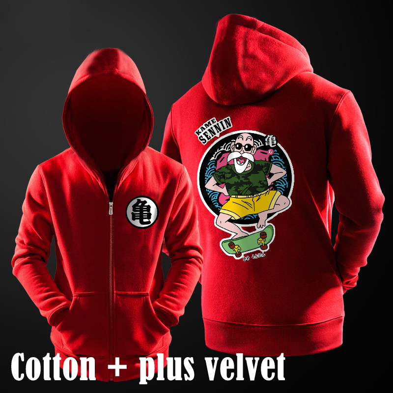 Jackets & Coats Dragon Ball Goku Master Roshi Baseball Jacket Coat Winter Fashion Sweatshirt Warm Casual College Student Women Hoodies Plus Size