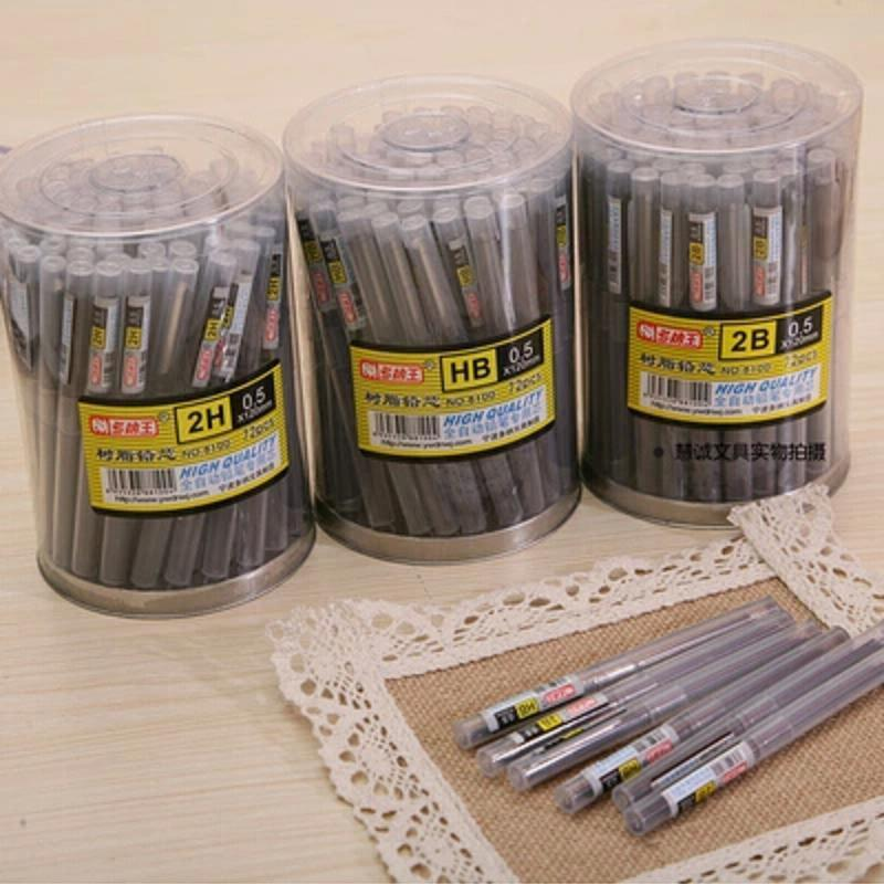0.5mm 0.7mm Mechanical Pencil Leads HB,2B Office & School Stationery Wholesale 72 Tubes/lot