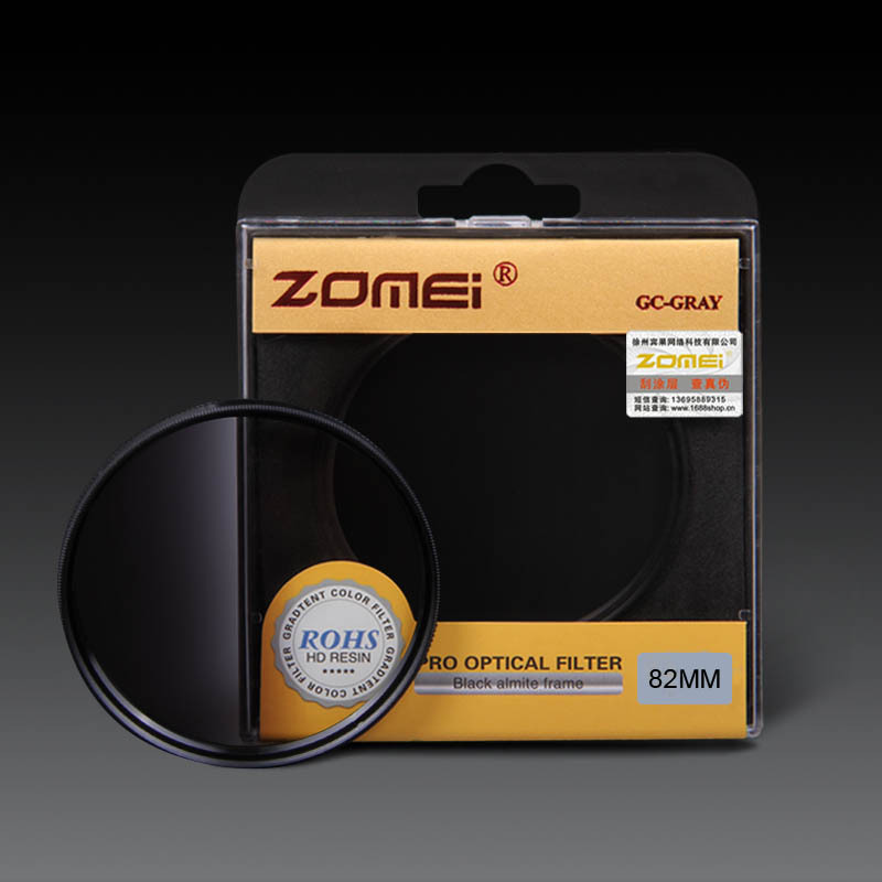 Zomei 52mm 55mm 58mm 62mm 67mm 72mm 77mm 82mm Graduated Filter Gradual Gray Neutral Density Filter for Canon Nikon Camera Lens zomei 40 5mm 49mm 52mm 55mm 58mm 62mm 67mm 72mm 77mm 82mm 86mm uv ultra violet filter lens protector for nikon canon sony