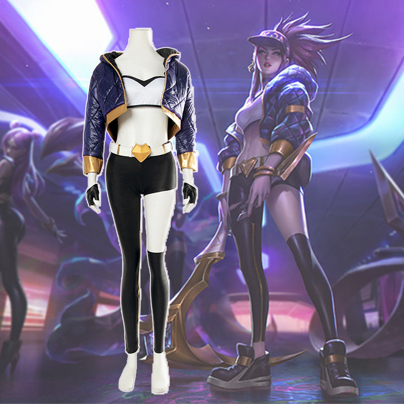 League of Legends K/DA kda LOL Akali The Fist of Shadow Cosplay Animation & Comic Costume Bodysuit  Jumpsuits Adults