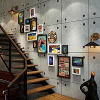 Çok çerçeve Modern Tarzı Ev Tasarım dikdörtgen Fotoğraf Çerçevesi Duvara Monte Ahşap Çerçeve Duvar resim çerçeveleri Set