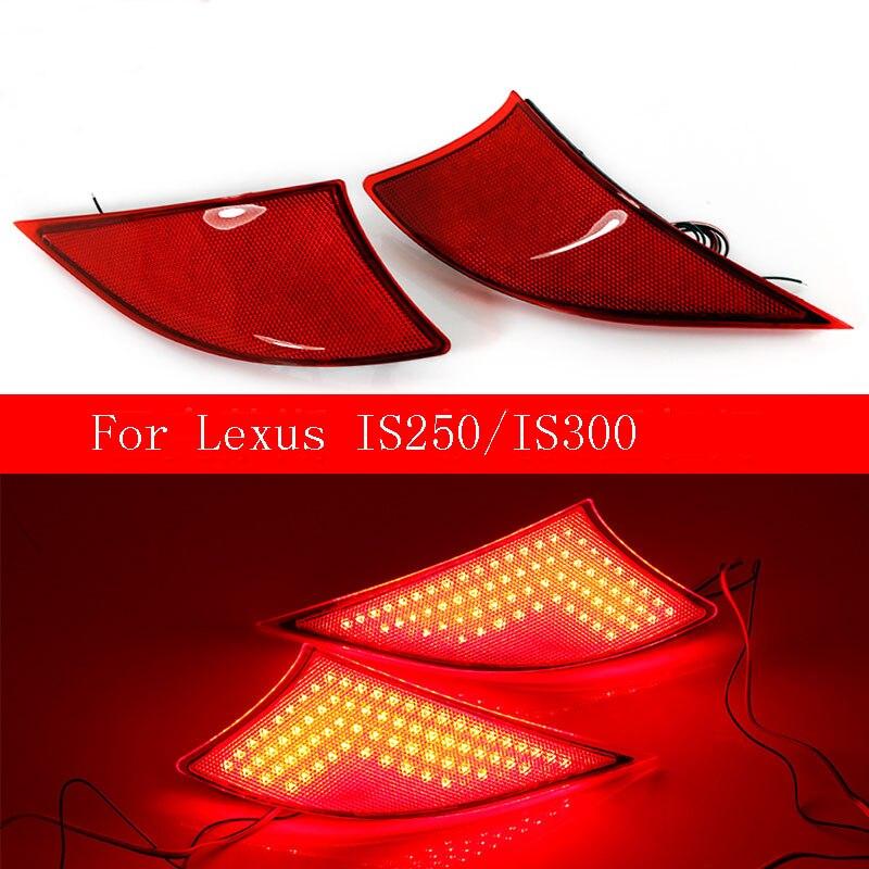 Ownsun Новый Multi LED Отражатели сзади Фонарь бампер стоп для Lexus IS250/IS300