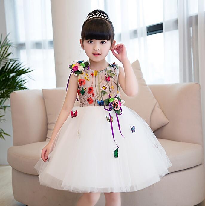 Summer Baby Girl Dress Flower Girl Toddler Girl Clothing Infant Party Pageant dresses for Little Girls Wedding  number