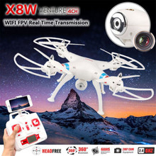 SYMA X8W FPV Drone 2.4GHz RC Helicopter Real-time Altitude Hold RC Quadcopter 4CH Gyro Cool 6Axis Explorers High aircraft