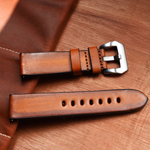 Onthelevel 20mm 22mm 24mm Leather Strap Handmade Brush Watch With Buckle Vintage Band # C